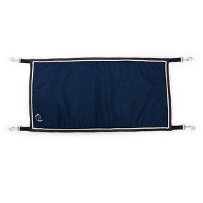 Porte boxe bleu marine/gris - blanc