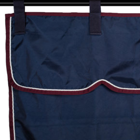 Ensemble stable bleu marine/bordeaux - blanc
