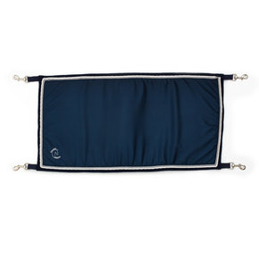 Porte boxe bleu marine/bleu marine - blanc/gris argent