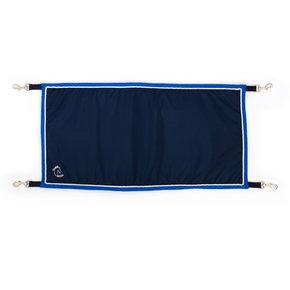 Porte boxe bleu marine/bleu clair - blanc