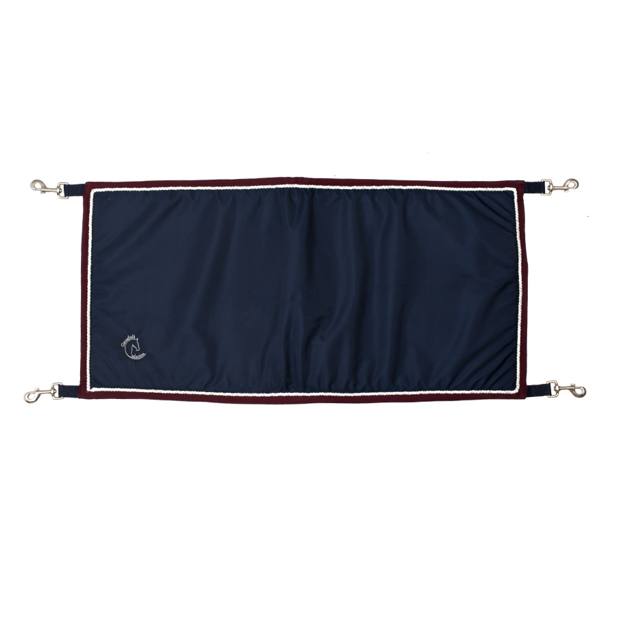 Greenfield Selection Staldeurdoek blauw/bordeaux - wit