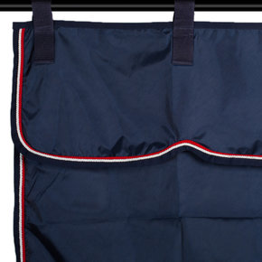 Stable curtain navy/navy - white/red