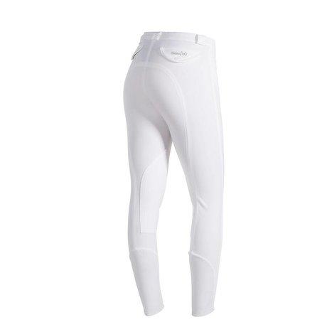 Greenfield Selection Pantalon d'équitation femmes - blanc - full seat grip