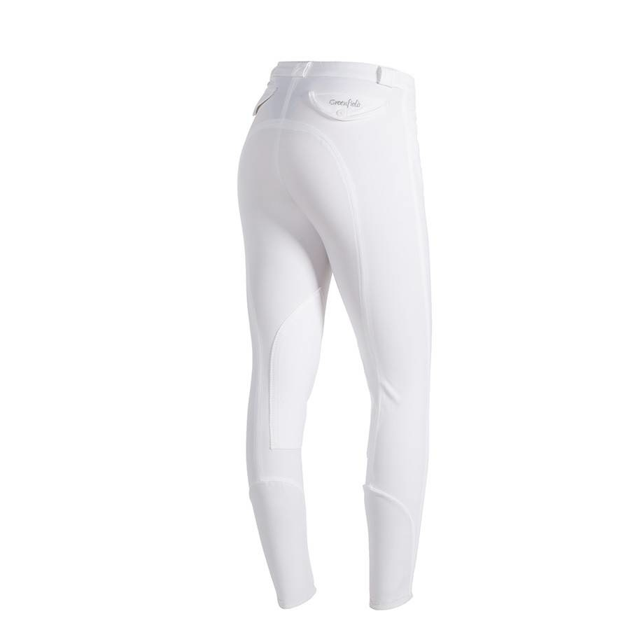 Greenfield Selection Pantalon d'équitation femmes - blanc - full seat grip