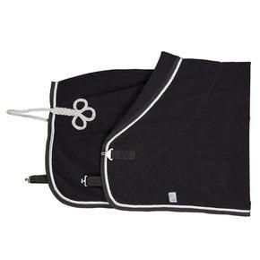 Fleece deken pony - zwart/zwart - wit/zilvergrijs
