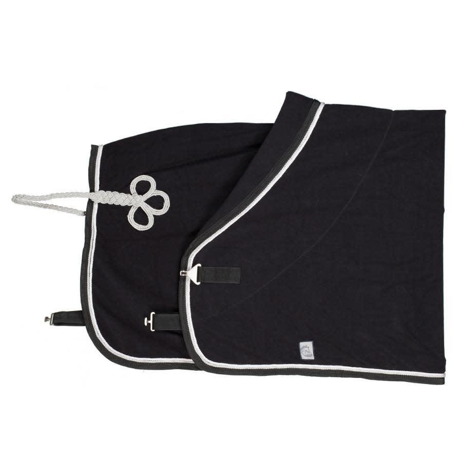 Greenfield Selection Fleece deken pony - zwart/zwart - wit/zilvergrijs