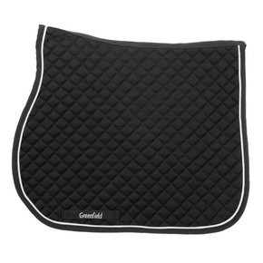 Saddle pad piping - black/black - white
