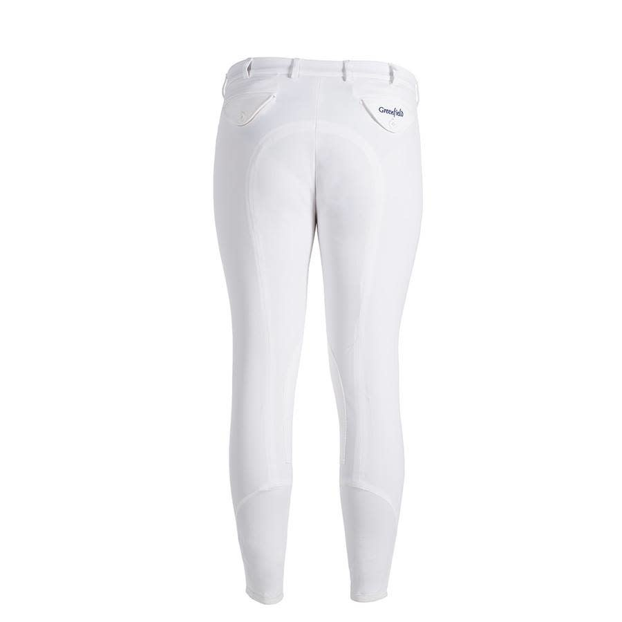 Greenfield Selection Pantalon d'équitation homme - blanc - full seat grip