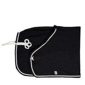 C17/2 - Wollen deken - zwart/zwart-wit/zilvergrijs