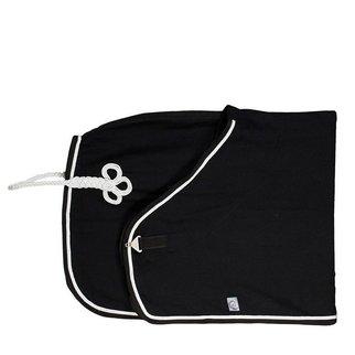 Greenfield Selection Couverture laine - noir/noir - blanc/gris argent