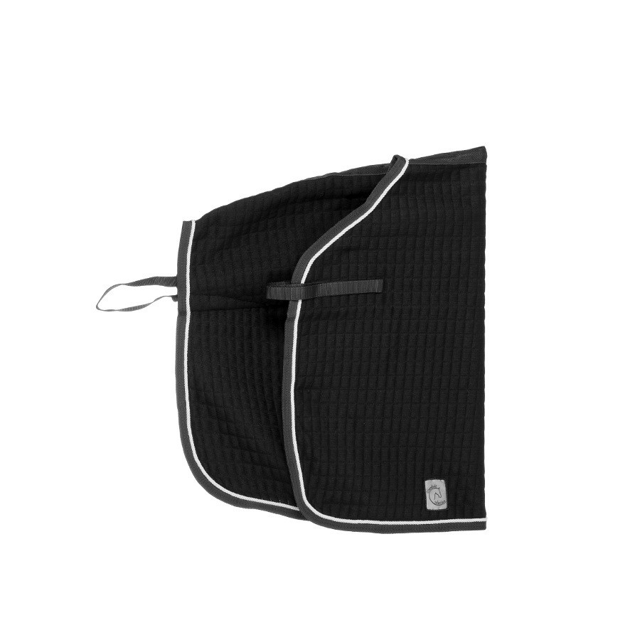 TXQ/1 - Carré couvre-reins thermo - noir/noir - argenté