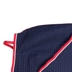 Thermo quartersheet - blauw/rood-wit
