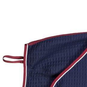 Carré couvre-reins thermo - bleu marine/bordeaux-blanc