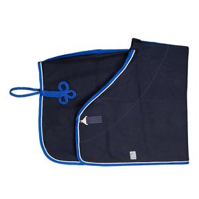 Wollen deken - blauw/koningsblauw-wit