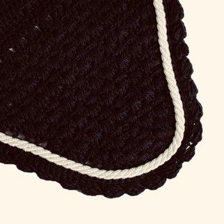 Oornetje - Zwart/zwart - Wit