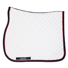 Saddle pad piping - white/navy - red