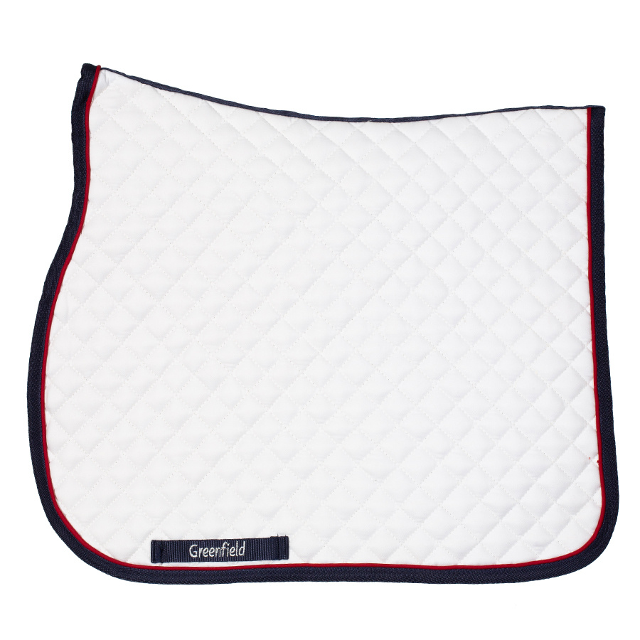 Greenfield Selection Zadeldoek piping - wit/blauw - rood