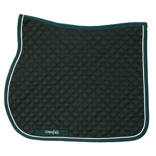 Greenfield Selection Saddle pad piping  - green/green - white