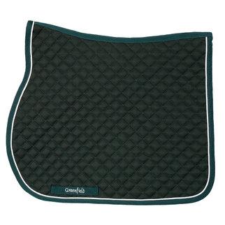 Saddle pad piping  - green/green - white