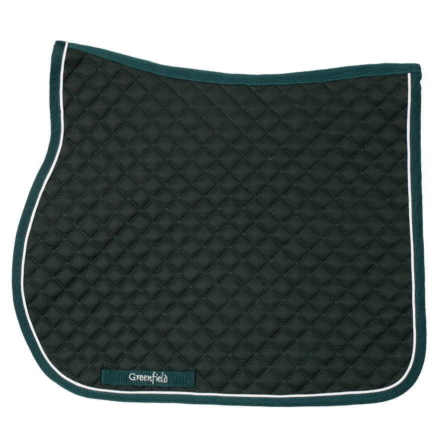 Greenfield Selection SPI/1 - Saddle pad piping  - green/green - white