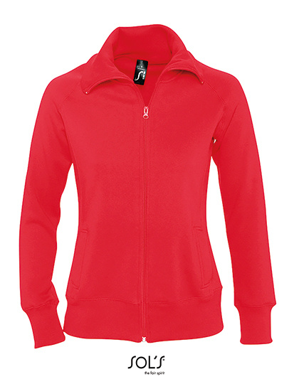 Sol's - Sundae/Soda - zipped sweater jacket with collar - ladies