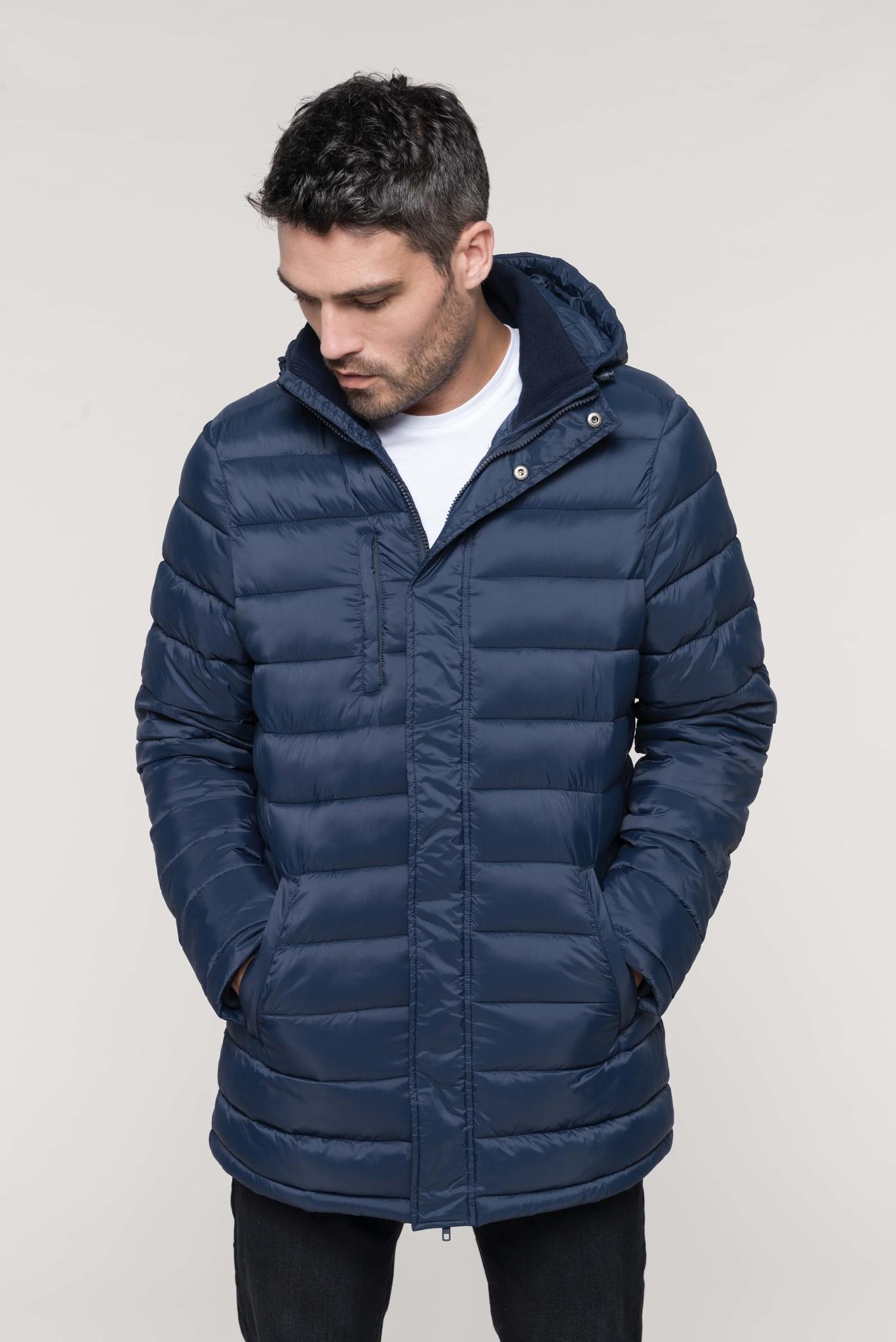 Kariban long jacket with hoodie - men