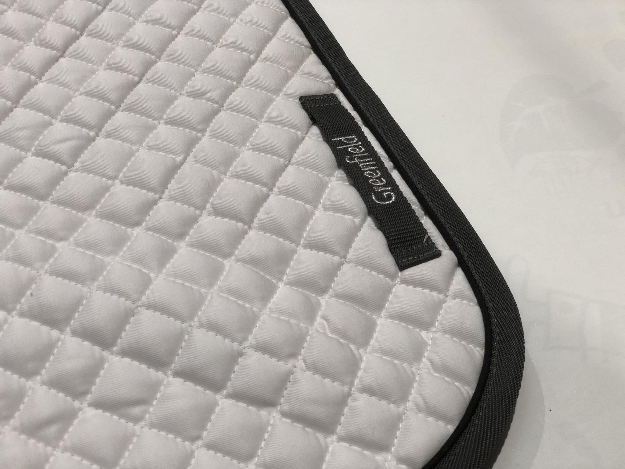 Greenfield Selection Zadeldoek piping - wit/grijs-zwart