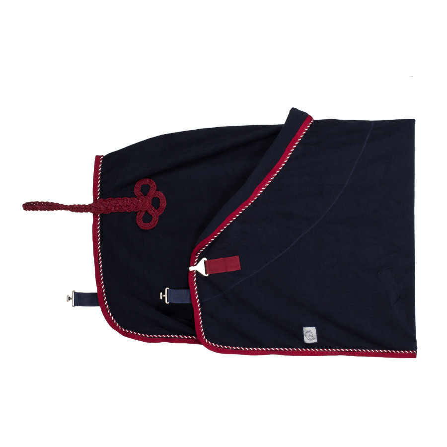 Greenfield Selection Fleece rug - navy/burgundy-mix