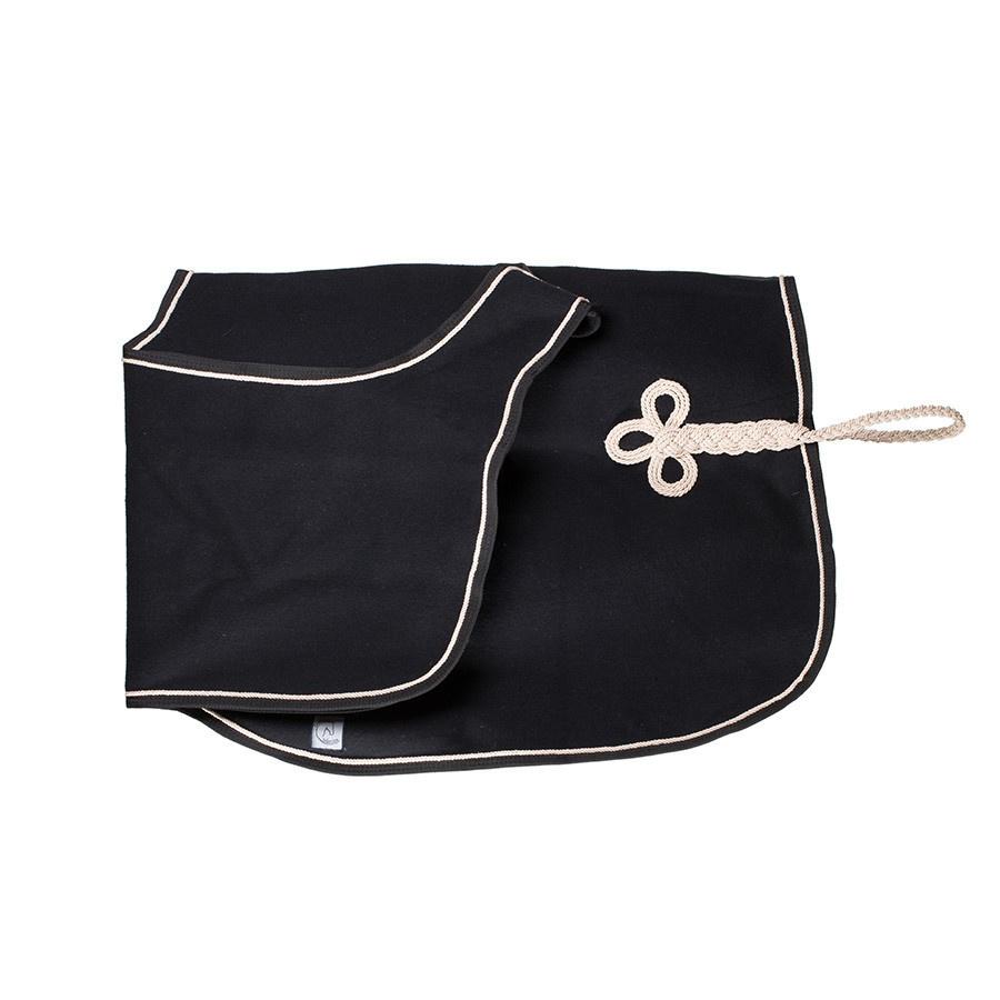 Greenfield Selection Couvre-reins en laine - noir/noir-beige