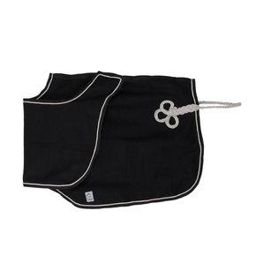 Couvre-reins en laine - noir/noir-gris d'argent