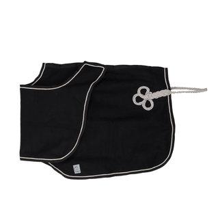 Greenfield Selection Couvre-reins en laine - noir/noir-gris d'argent