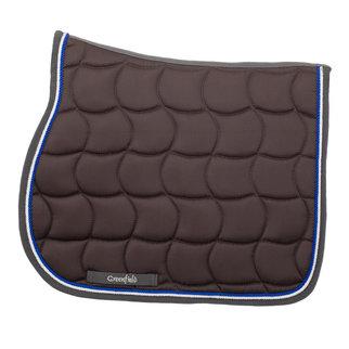 Greenfield Selection Zadeldoek - grijs/grijs-wit/koningsblauw