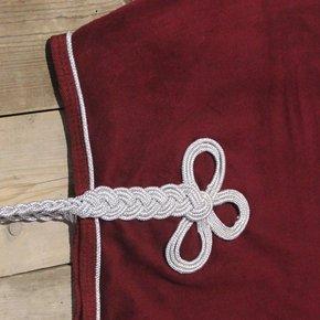 Riding sheet fleece - burgundy/burgundy-silver