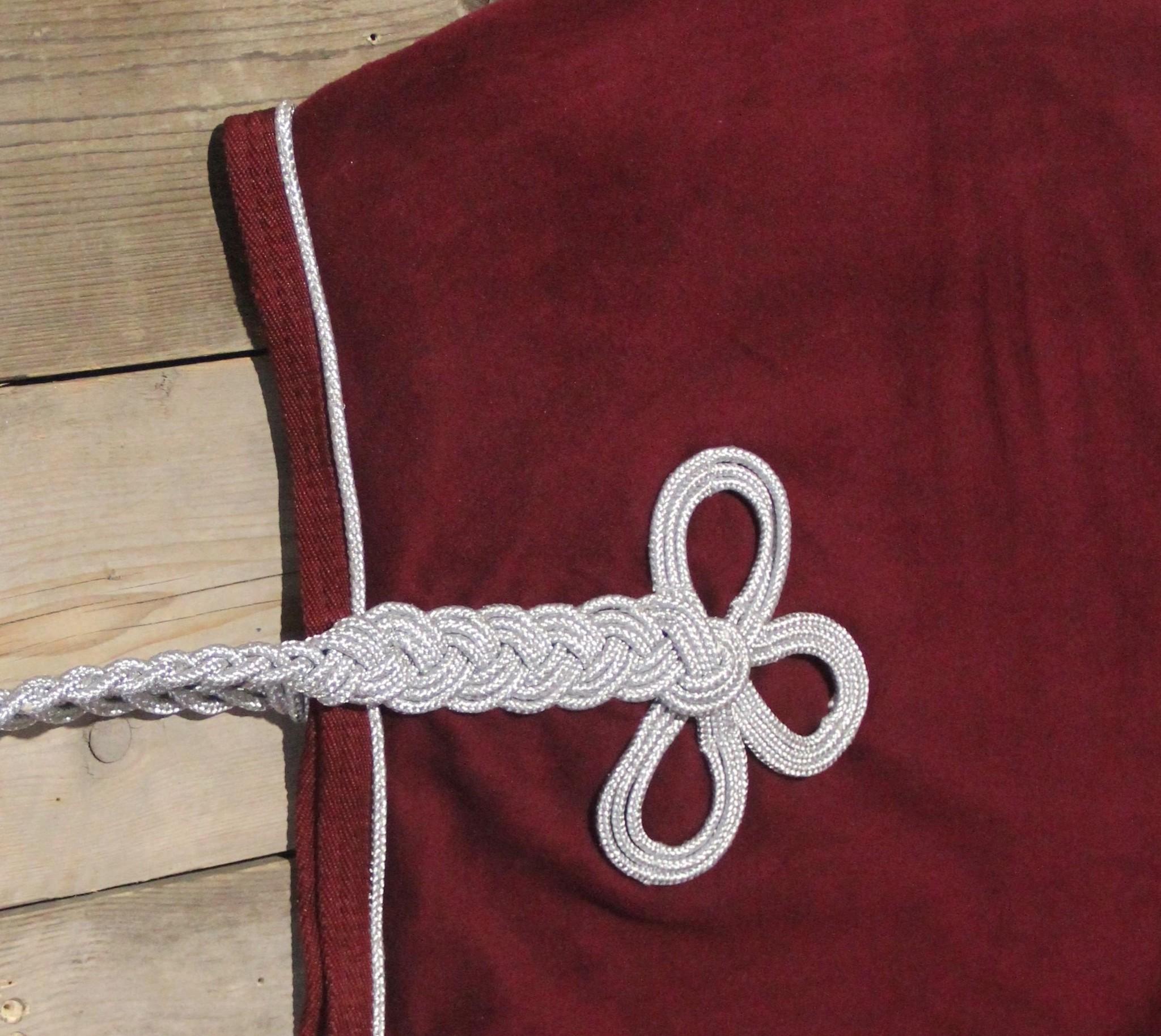 Greenfield Selection Nierdeken fleece - bordeaux/bordeaux-zilver