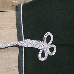Nierdeken fleece - groen/groen-zilver