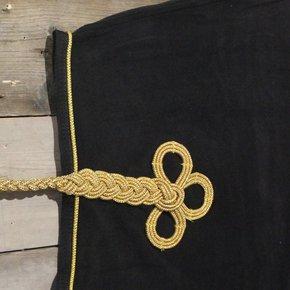 Nierdeken fleece - zwart/zwart-goud