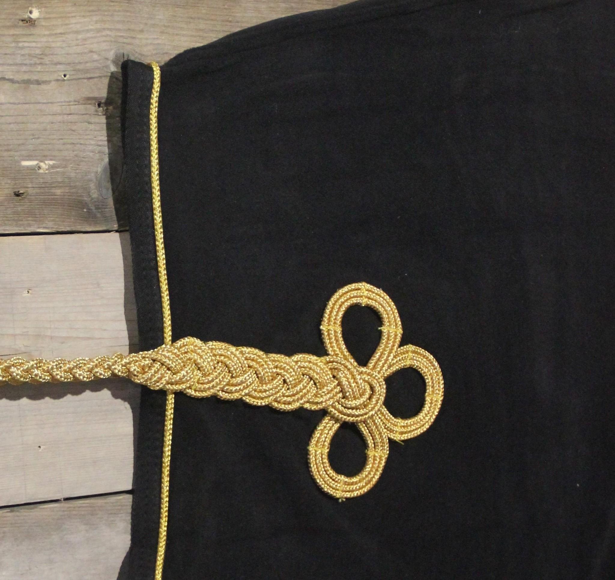 Greenfield Selection Nierdeken fleece - zwart/zwart-goud