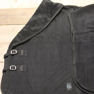 Greenfield Selection Chemise polaire teddy double - noir