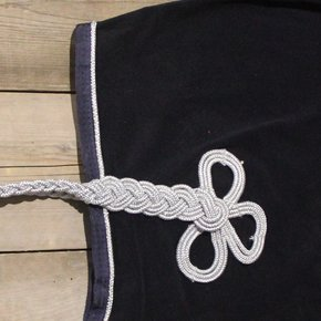 Riding sheet fleece - navy/navy-silver