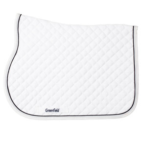 Poney - Tapis de selle piping - blanc/blanc-noirblue