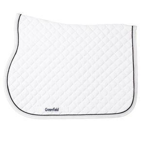 Pony - Saddle pad piping - white/white-blackblue