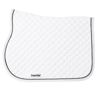 Greenfield Selection Poney - Tapis de selle piping - blanc/blanc-noirblue
