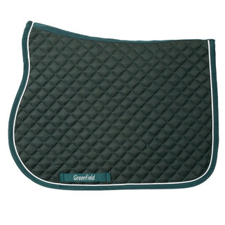 Greenfield Selection Poney - Tapis de selle piping - vert/vert - blanc