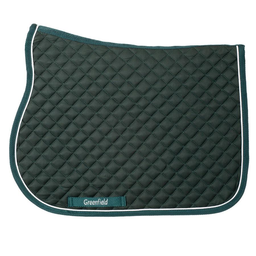 Greenfield Selection Pony - Zadeldoek piping - groen/groen-wit