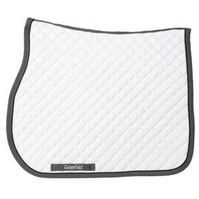 Saddle pad piping - white/grey-black