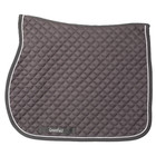 Greenfield Selection Tapis de selle piping - gris/gris - blanc