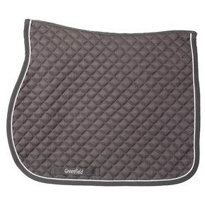 Saddle pad piping - grey/grey - white