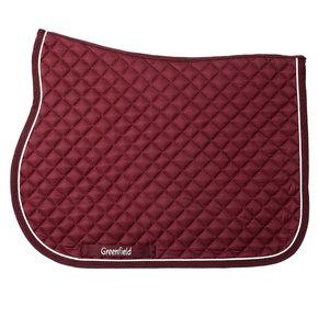 Pony - Saddle pad piping - burgundy/burgundy-white