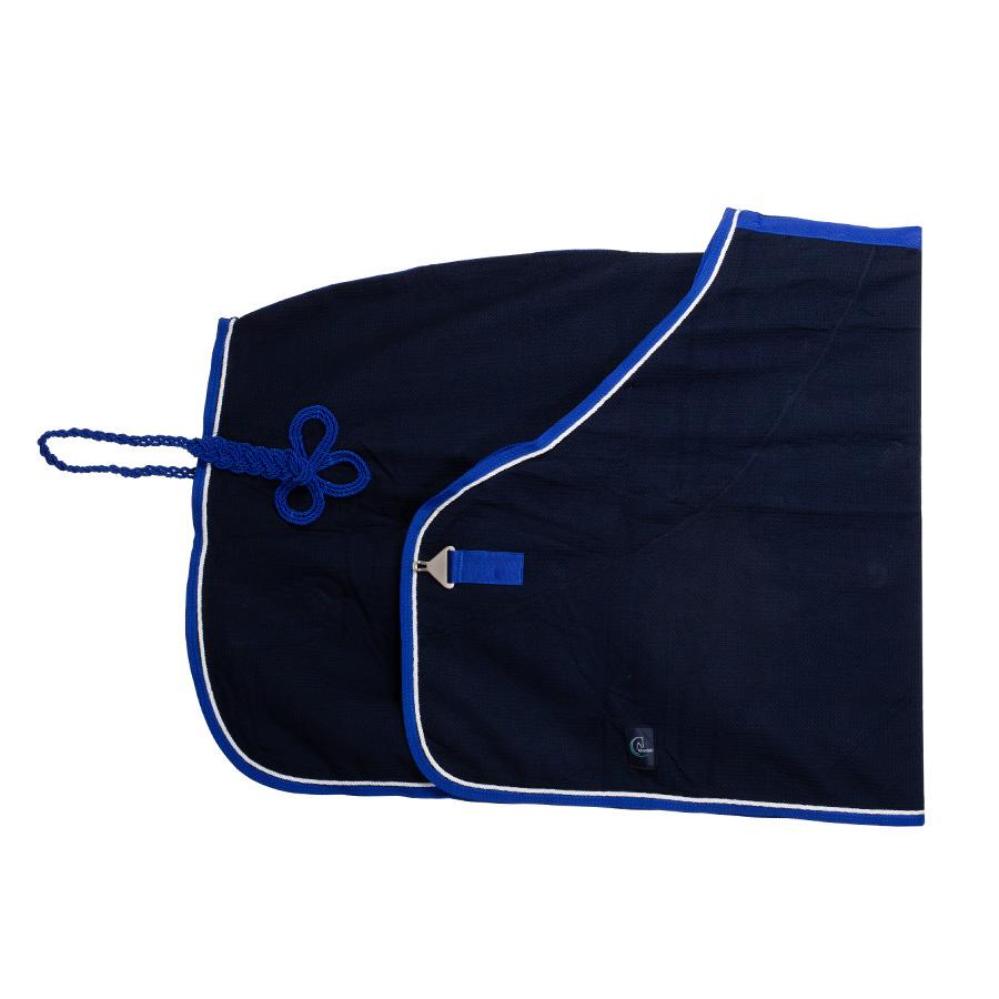 Greenfield Selection C16/1 - Honeycomb deken - blauw/koningsblauw -wit