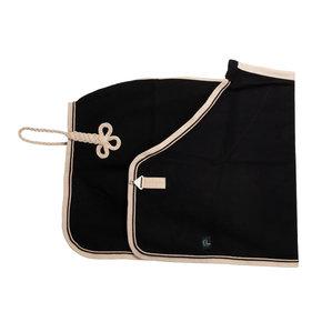 Woolen rug - black/beige-black/beige